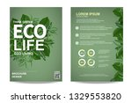 ecology brochure flyer design...   Shutterstock .eps vector #1329553820