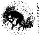 magic horse. beautiful vector... | Shutterstock .eps vector #1329564320