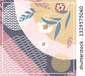 hijab creative scarf fashion... | Shutterstock .eps vector #1329575060