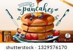 souffle pancake mix ads with... | Shutterstock .eps vector #1329576170
