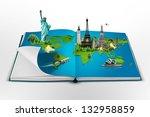 book of travel   Shutterstock . vector #132958859