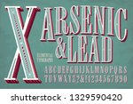 an elegant and ornate condensed ... | Shutterstock .eps vector #1329590420