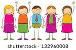 stick figure   people | Shutterstock .eps vector #132960008