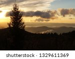 black balsam knob scenes near... | Shutterstock . vector #1329611369