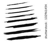 black brush strokes   set  ... | Shutterstock .eps vector #132961454