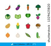 vegetable related icons  ...
