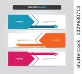 vector abstract web banner... | Shutterstock .eps vector #1329630713