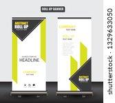 roll up business brochure flyer ...   Shutterstock .eps vector #1329633050