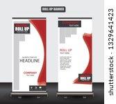 roll up business brochure flyer ... | Shutterstock .eps vector #1329641423