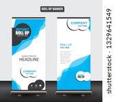 roll up business brochure flyer ... | Shutterstock .eps vector #1329641549