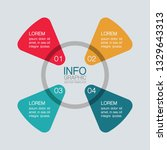 vector infographic template for ... | Shutterstock .eps vector #1329643313