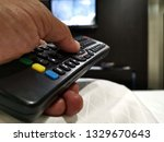 remote  control  on  the  ... | Shutterstock . vector #1329670643