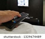 remote  control  on  the  ... | Shutterstock . vector #1329674489