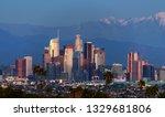 downtown los angeles skyline...   Shutterstock . vector #1329681806