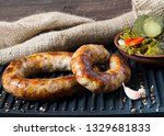 spicy homemade sausages pork... | Shutterstock . vector #1329681833