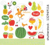 healthy eating  fruits  food... | Shutterstock .eps vector #132969116