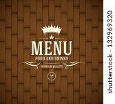 restaurant menu design | Shutterstock .eps vector #132969320