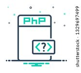 vector icon for php | Shutterstock .eps vector #1329697499