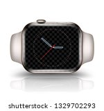 smart watch mockup realistic... | Shutterstock .eps vector #1329702293