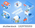 moving in new house real estate ... | Shutterstock .eps vector #1329705353
