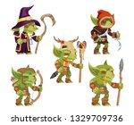 evil goblins pack dungeon dark... | Shutterstock .eps vector #1329709736
