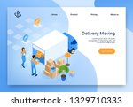home moving company  delivery... | Shutterstock .eps vector #1329710333