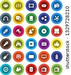white solid icon set  cinema...   Shutterstock .eps vector #1329728210
