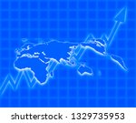 an image of global economy. | Shutterstock . vector #1329735953