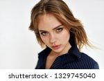 sexy look woman portrait       ...   Shutterstock . vector #1329745040