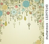 Vintage Background With Doodle...