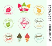 ice cream labels set | Shutterstock .eps vector #132976328