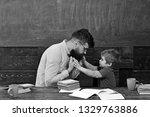 male teacher giving... | Shutterstock . vector #1329763886