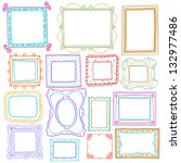 vintage photo frames set ... | Shutterstock .eps vector #132977486