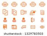 internet banking via smartphone ... | Shutterstock .eps vector #1329783503
