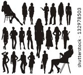 vector silhouettes of business... | Shutterstock .eps vector #132978503