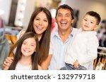 portrait of happy family in a... | Shutterstock . vector #132979718