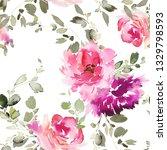 seamless summer pattern with... | Shutterstock . vector #1329798593