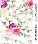seamless summer pattern with... | Shutterstock . vector #1329798596