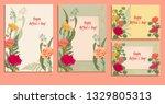 set horizontal  vertical... | Shutterstock .eps vector #1329805313