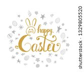 happy easter greeting card....   Shutterstock .eps vector #1329805520