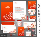 red corporate identity template ...   Shutterstock .eps vector #132981560