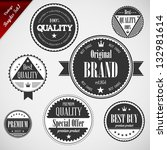 premium quality labels with... | Shutterstock .eps vector #132981614