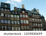half timbered houses in rennes... | Shutterstock . vector #1329830699
