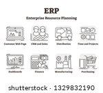 erp vector illustration.... | Shutterstock .eps vector #1329832190