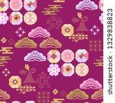 beautiful japanese seamless ...   Shutterstock .eps vector #1329838823