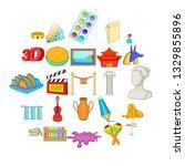 arts icons set. cartoon set of... | Shutterstock .eps vector #1329855896