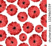 wild poppies seamless pattern ... | Shutterstock .eps vector #1329865559