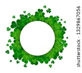 saint patrick's day frame with... | Shutterstock . vector #1329867056