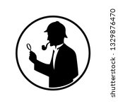 icon of the detective with a... | Shutterstock .eps vector #1329876470