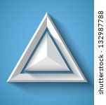 realistic geometrical... | Shutterstock .eps vector #132987788